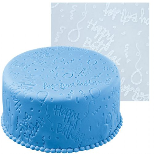 FONDANT IMPRNT MAT HAPPY BIRTHDAY